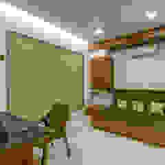 Azjatyckie domowe biuro i gabinet od Studio Living Stone Azjatycki