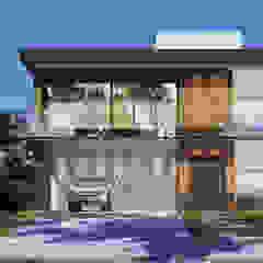 Projeto Casas Modernas por Gelker Ribeiro Arquitetura   Arquiteto Rio de Janeiro Moderno Madeira Efeito de madeira