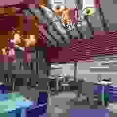 Restaurante Campestre Maras Balcones y terrazas rústicos de FRANCO CACERES / Arquitectos & Asociados Rústico