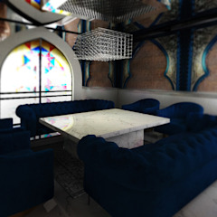 Old World Restaurant Moderne bars & clubs van Deev Design Modern Marmer