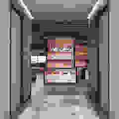 Moderne gangen, hallen & trappenhuizen van Deev Design Modern Koper / Brons / Messing