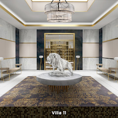 Villa 11 Moderne gangen, hallen & trappenhuizen van Deev Design Modern Zilver / Goud