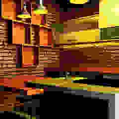 Interior Dapur dan Ruang Makan Oleh r.studio Industrial Batu Bata