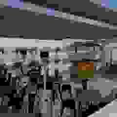 Remodelação de café em Vieira do Minho por R&U ATELIER LDA Moderno Madeira Acabamento em madeira