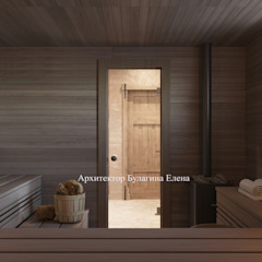 de Архитектурное Бюро 'Капитель' Industrial Madera Acabado en madera