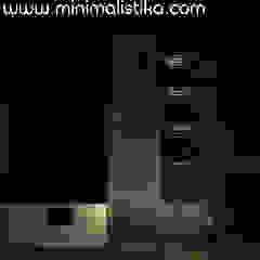 Diseño de Fachada Minimalista Edificio SMP Minimalistika.com Casas de estilo minimalista Metal Gris