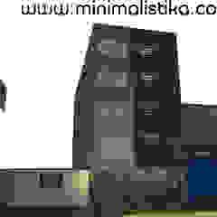 Minimalistika.com 미니멀리스트 주택 금속 그레이