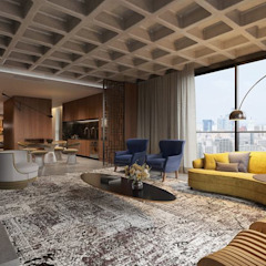 Johnny Thomsen Arquitetura e Design Modern living room