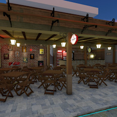 Colonial style bars & clubs by 88 Arquitetura Colonial