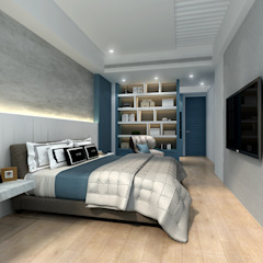 百玥空間設計 ─ 凝聚 百玥空間設計 臥室 合板 Blue