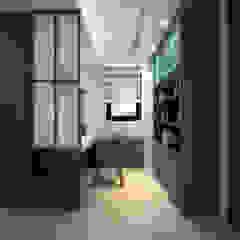 百玥空間設計 ─ 凝聚 百玥空間設計 書房/辦公室 合板 Blue