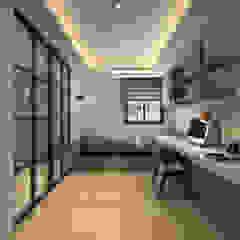 百玥空間設計 ─ 凝聚 百玥空間設計 書房/辦公室 水泥 Grey