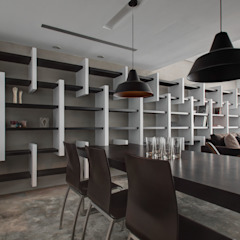 Industrial style dining room by 邑舍室內裝修設計工程有限公司 Industrial