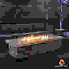 Pira de fogo (lareira externa) por Atrium Vale Pedras e Projetos Clássico Pedra