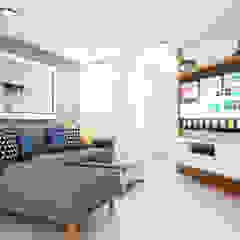 PROYECTO RESIDENCIAL ANIA Salas modernas de NF Diseño de Interiores Moderno