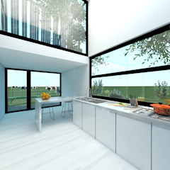 Dinges Design Modern kitchen Glass