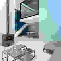 Dinges Design Modern living room Blue
