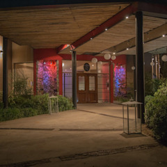 Estilo Cardales - Salón de fiesta Gastronomía de estilo minimalista de Luis Barberis Arquitectos Minimalista