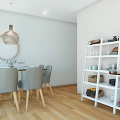 PROYECTO SALA Y COMEDOR - LE SAULE LINCE- Comedores de estilo moderno de NF Diseño de Interiores Moderno