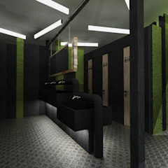 por Студия Aрхитектуры и Дизайна 'Aleksey Marinin' Eclético Derivados de madeira Transparente