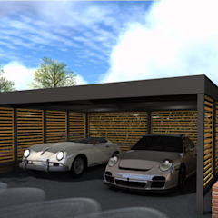 Double carport for Classic Car Enthusiast de wearemodern limited Moderno Hierro/Acero