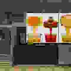 Café Champs Bares e clubes modernos por LAM Arquitetura   Interiores Moderno