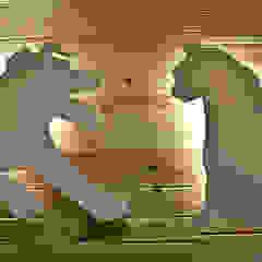 Projekt wnętrza przychodni weterynaryjnej od SZARA / studio Nowoczesny Kompozyt drewna i tworzywa sztucznego