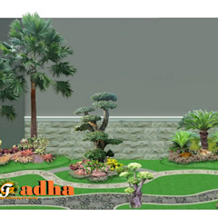 Arsitek Taman Surabaya Oleh Tukang Taman Surabaya - Tianggadha-art Modern Batu