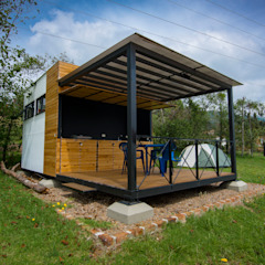 من Camacho Estudio de Arquitectura بلدي الخشب هندسيا Transparent