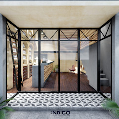 Tropical style study/office by Indigo Diseño y Arquitectura Tropical Concrete