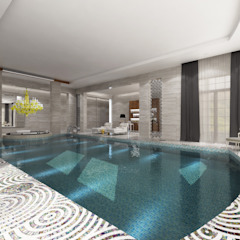 Private Spa - Doha / Qatar โดย Sia Moore Archıtecture Interıor Desıgn ผสมผสาน เซรามิค