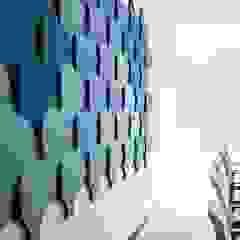 Panele akustyczne Flow 3D od FLUFFO fabryka miękkich ścian Nowoczesny
