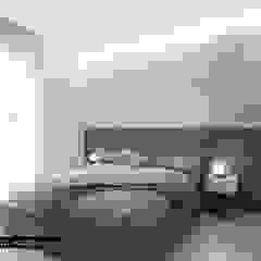 LM HOUSE, GIUGLIANO IN CAMPANIA di delphilab+ ld'a Moderno Marmo