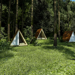 by Trazo Arquitectonico Country Wood Wood effect