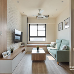 Scandinavian style living room by 顥岩空間設計 Scandinavian