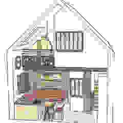 Croquis vue 3D ensemble mini-loft ABCD MAISON