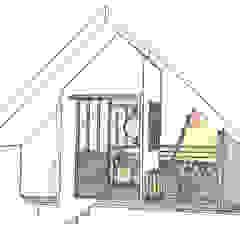 Croquis vue 3D étage mini-loft ABCD MAISON