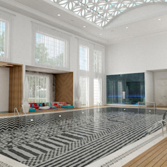 Club House - Doha / Qatar โดย Sia Moore Archıtecture Interıor Desıgn ผสมผสาน เซรามิค