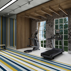 Club House - Doha / Qatar Eclectic style gym by Sia Moore Archıtecture Interıor Desıgn Eclectic Wood Wood effect