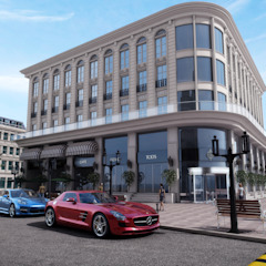 The Mall - Baku / Azerbaijan Mediterranean style offices & stores by Sia Moore Archıtecture Interıor Desıgn Mediterranean Concrete