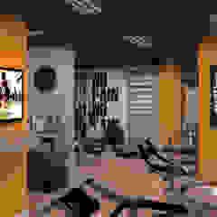 Academia para área comum Fitness moderno por Arquorum Arquitetura Moderno Derivados de madeira Transparente