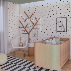 Quarto de Bebê por Ana Julia Tavares Arquitetura e Interiores Escandinavo
