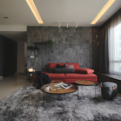 Project RB / Metropark by SIXTH Interior Sdn Bhd Rustic Iron/Steel
