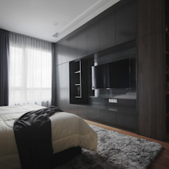 Project RB / Metropark Rustic style bedroom by SIXTH Interior Sdn Bhd Rustic