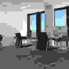 Biuro w .KTW od SYME - Pracownia Wnętrz Nowoczesny