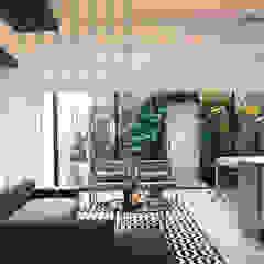 Area Social con Jardín Vertical Salas modernas de CHAVARRO ARQUITECTURA Moderno Concreto