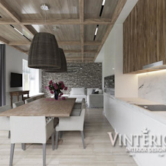 House in a modern style with elements of country, Bobritsa de Vinterior - дизайн интерьера Rural