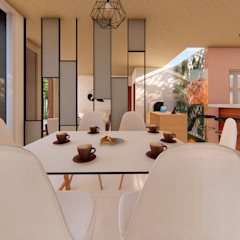 GóMEZ arquitectos Modern dining room