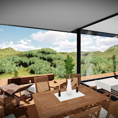 House Voet Scandinavian style dining room by Juan Pretorius Architecture PTY LTD Scandinavian