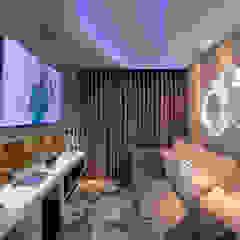 Apartamento Cavalli Salas multimídia modernas por Designer de Interiores e Paisagista Iara Kílaris Moderno